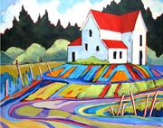 social painting Contemporary Landscape